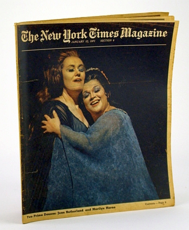 Image for The New York Times Magazine, January (Jan.) 17, 1971 - Cover Photo of Joan Sutherland and Marilyn Horne