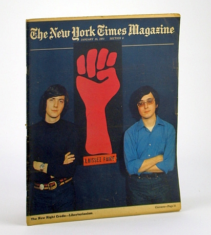 Image for The New York Times Magazine, January (Jan.) 10, 1971 - Libertarianism Cover