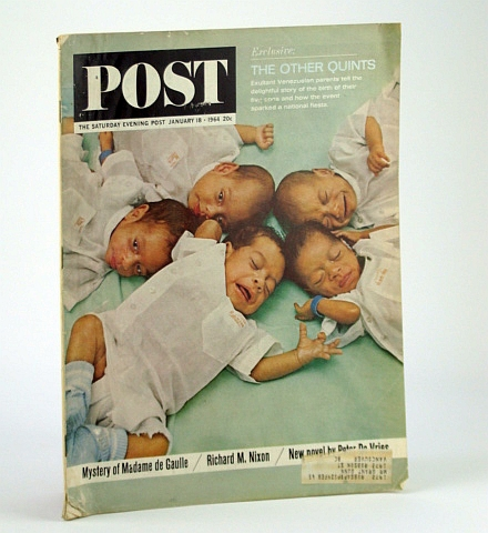 Image for The Saturday Evening Post, January (Jan.) 18, 1964 -  Venezuelan Quintuplets (Quints) / The Dollar Crisis / Bill Russell / Bill Scranton