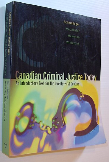 Image for Canadian Criminal Justice Today: An Introductory Text for the 21st Century