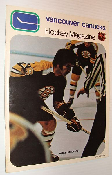 Image for Vancouver Canucks Hockey Magazine, 13 March 1971, Vol. 1 Nol 33 *DEREK SANDERSON COVER PHOTO*
