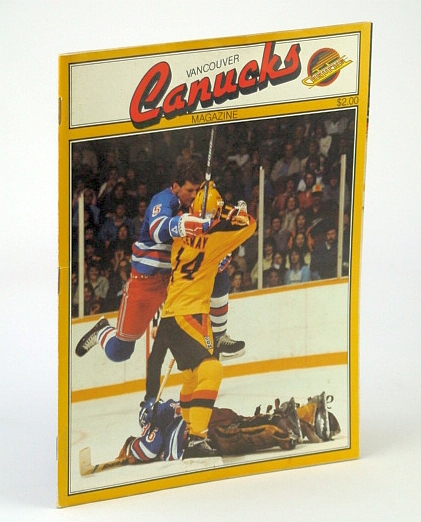 Image for Vancouver Canucks Magazine, Sunday February (Feb.) 3, 1985 - for game Against the New York Rangers (Barry Beck Cover Photo)