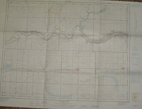 Image for Map of Grassy Lake, Alberta, West of Fourth Meridian, Scale 1:50,000