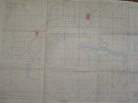Image for Map of Raymond, Alberta, West of Fourth Meridian, Scale 1:50,000