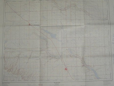 Image for Map of Warner County, Alberta, West of Fourth Meridian, Scale 1:50,000