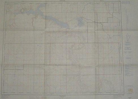 Image for Travers, Alberta - West of Fourth Meridian, Scale 1:50,000