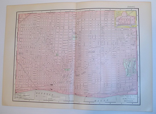 Image for Rand McNally & Co's 1895 Map of the Main Portion of Detroit, Michigan