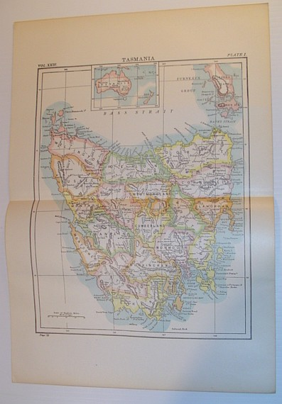 Image for Map of Tasmania - Circa 1902