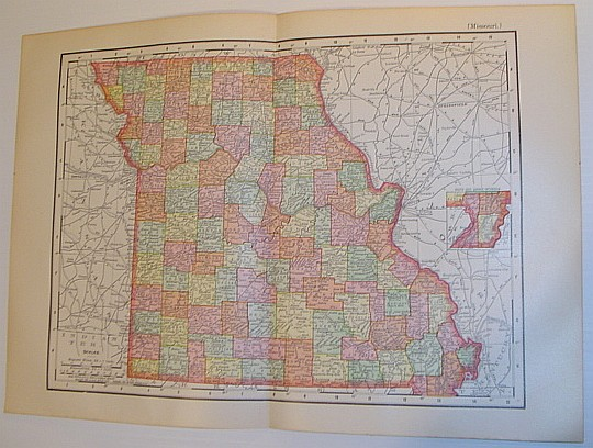 Image for Rand McNally 1901 Colour Map of the State of Missouri