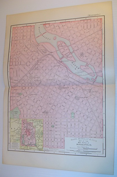 Image for Rand, McNally & Co.'s 1895 Map of the Main Portion of Minneapolis