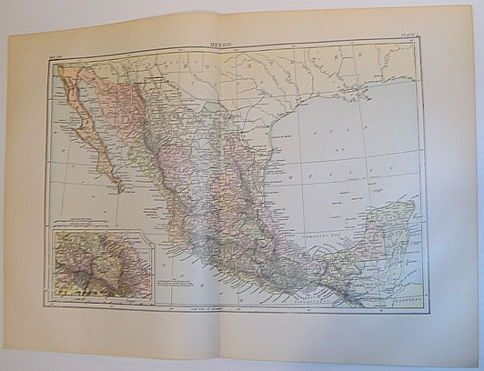 Image for Colour Map of Mexico - Circa 1902
