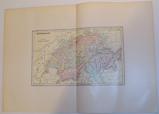 Image for Colour Map of Switzerland - Circa 1902