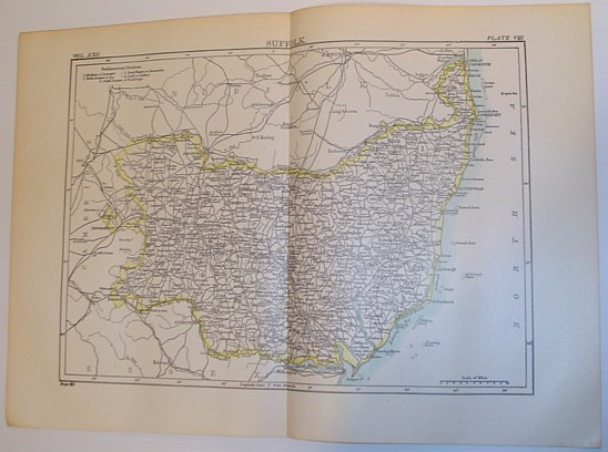 Image for Map of Suffolk, England - Circa 1902