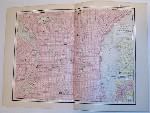 Image for Rand McNally & Co's 1895 Map of the Main Portion of Philadelphia