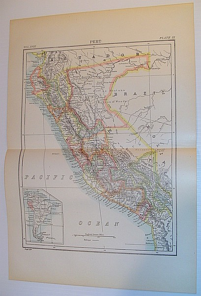 Image for Map of Peru - Circa 1902
