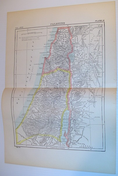 Image for Map of Palestine - Circa 1902