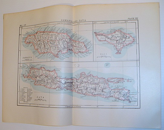 Image for Maps of Jamaica and Java: Circa 1902