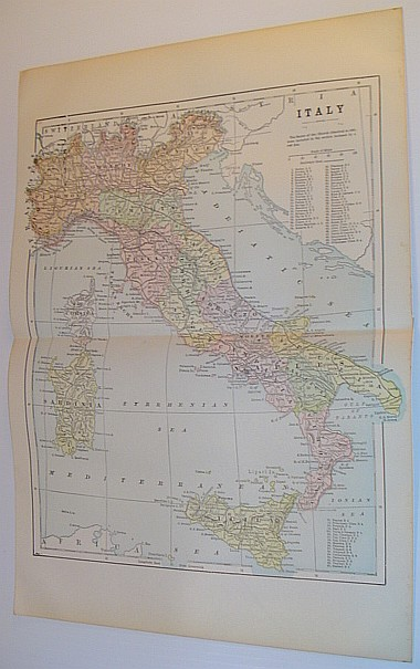 Image for Colour Map of Italy: Circa 1902