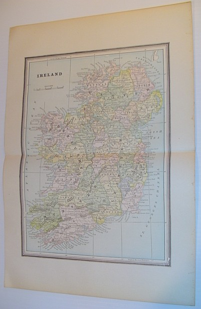 Image for Colour Map of Ireland - Circa 1902