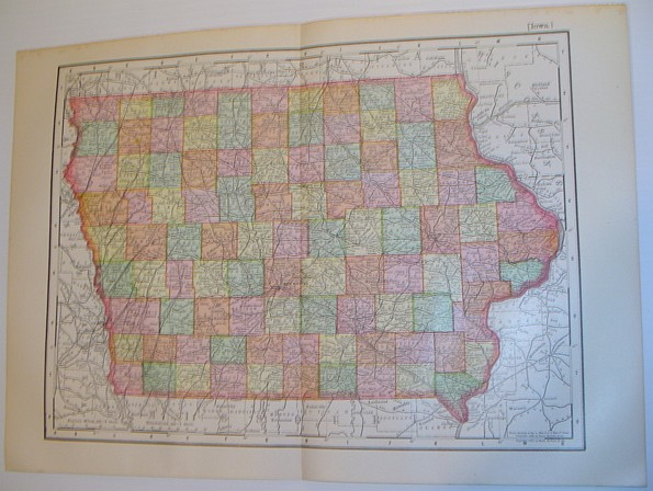 Image for Rand McNally's 1901 Colour Map of the State of Iowa