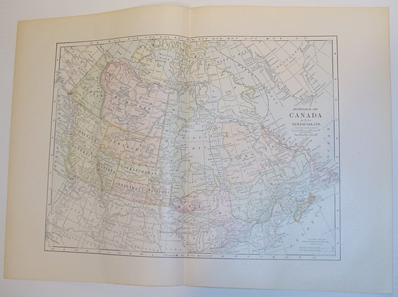Image for 1899 Colour Map of the Dominion of Canada and Newfoundland