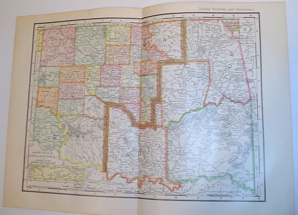 Image for Rand, McNally & Co.'s 1901 Colour Map of the State of Oklahoma and Indian Territory