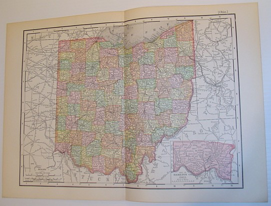 Image for Rand McNally & Co.'s 1901 Colour Map of the State of Ohio