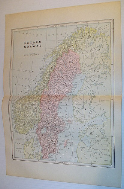 Image for Colour Map of Sweden and Norway - Circa 1902