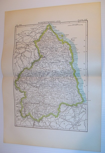 Image for Map of Northumberland, England - Circa 1902