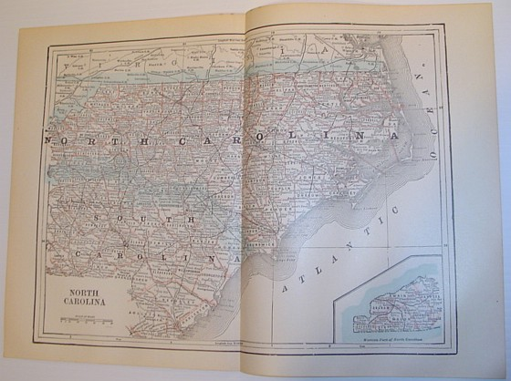 Image for Map of the State of North Carolina - Circa 1902