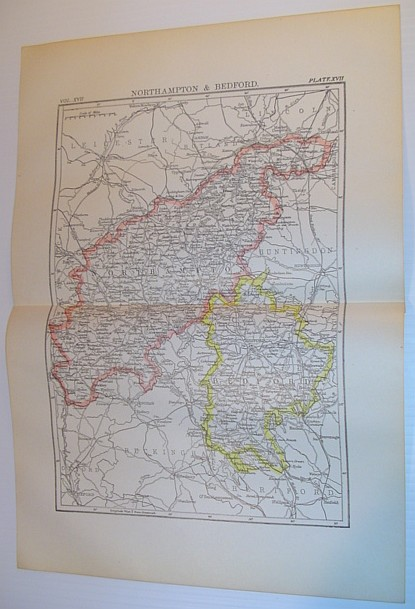 Image for Map of Northampton & Bedford, England - Circa 1902