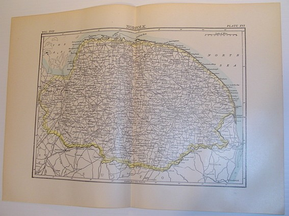 Image for Map of Norfolk, England - Circa 1902