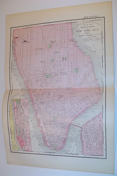 Image for Rand McNally & Co.'s 1895 Colour Map of the Southern Portion of New York City