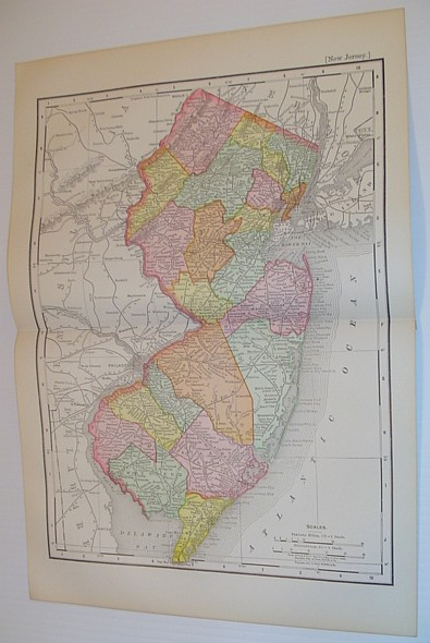 Image for Rand McNally & Co.'s 1901 Coloured Map of the State of New Jersey