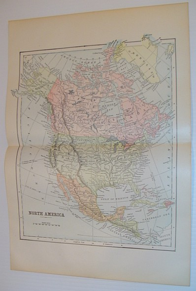 Image for Colour Map of North America - Circa 1902