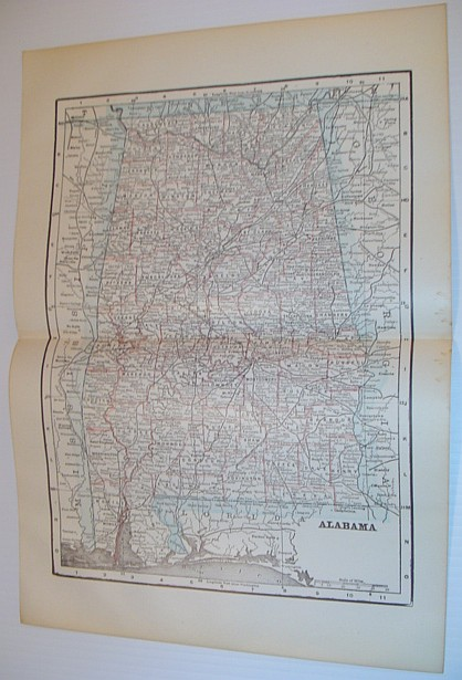 Image for Map of the State of Alabama - Circa 1902