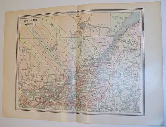Image for Map of the Province of Quebec - Circa 1902
