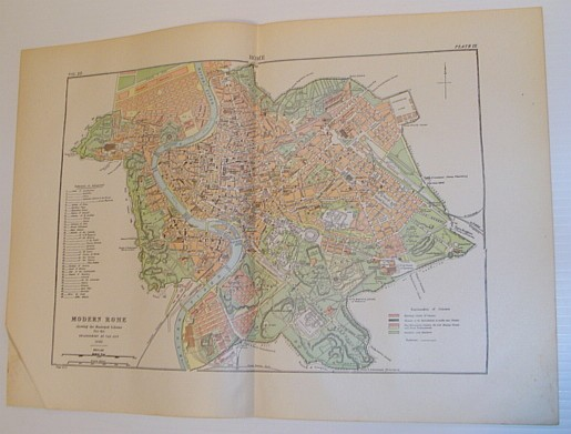 Image for Colour Map of Modern Rome - Showing the Municipal Scheme for the Enlargement of the City 1885