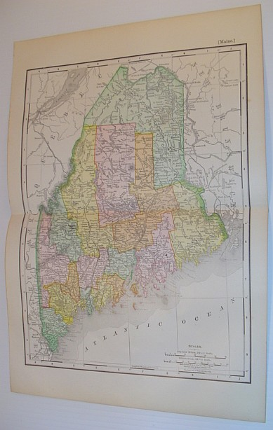 Image for Rand McNally & Co.'s 1901 Colour Map of the State of Maine