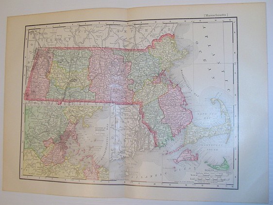 Image for Rand McNally & Co.'s 1901 Colour State Map of Massachusetts