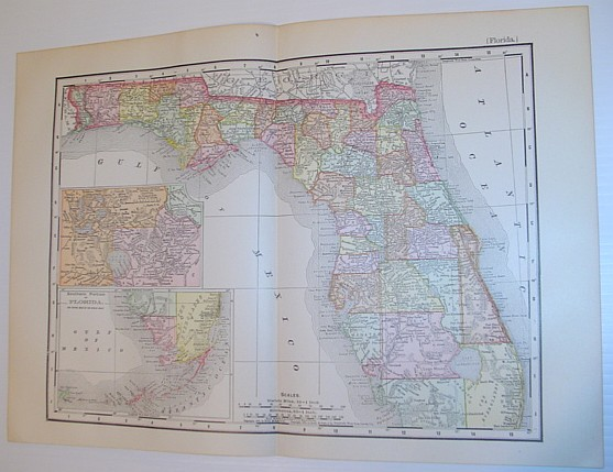 Image for Rand, McNally & Co.'s 1901 Colour State Map of Florida