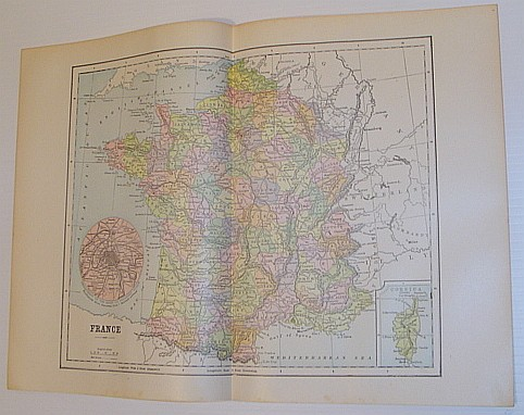 Image for Colour Map of France - Circa 1902