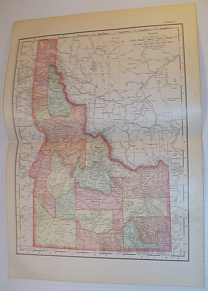 Image for Rand McNally & Co.'s 1901 State Map of Idaho - In Colour