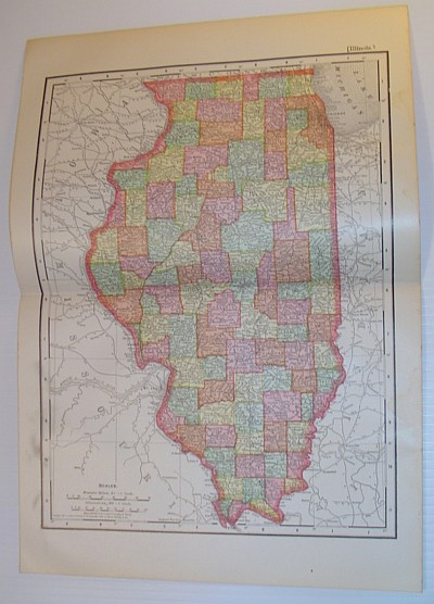 Image for Rand, McNally & Co.'s 1901 State Map of Illinois - In Colour