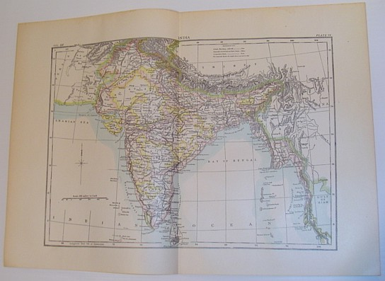 Image for Map of India - Circa 1902