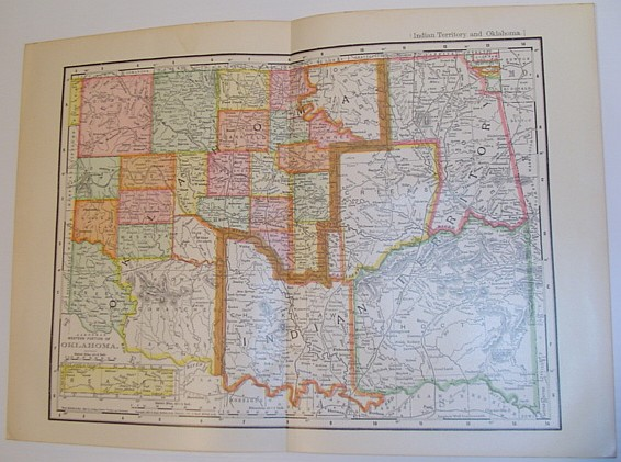 "Image for Rand, McNally & Co.'s 1901 Map of the ""Western Portion of Oklahoma""/ Indian Territory and Oklahoma"