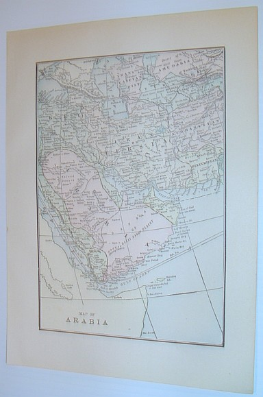 Image for Delicately Coloured Map of Arabia - Circa 1902
