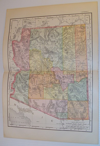 Image for Rand McNally's 1898 Arizona State Map - Colour