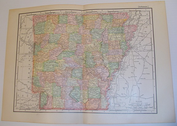 Image for Rand McNally & Co.'s 1901 State Map of Arkansas