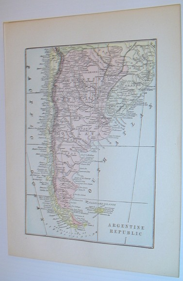 Image for Colour Map of the Argentine Republic - Circa 1902